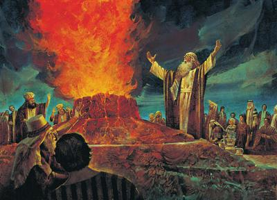 Then the fire of the Lord fell and consumed the burnt sacrifice.