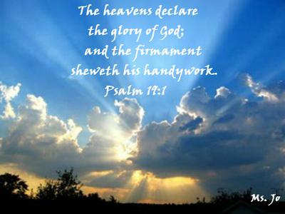 THE HEAVENS TELL YOUR GLORY, LORD